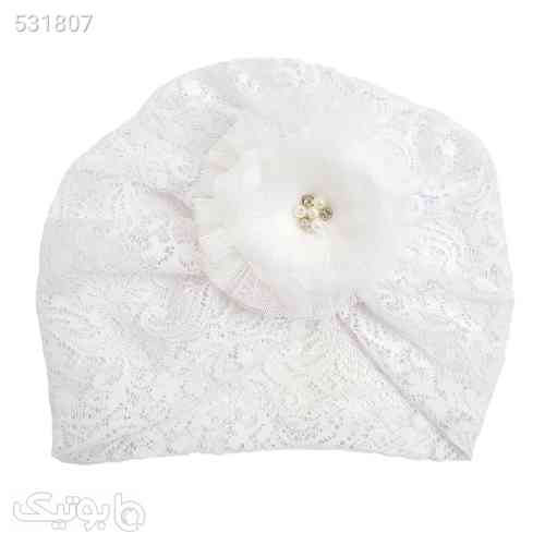 کلاه نوزادی دخترانه کد m807 سفید 99 2020