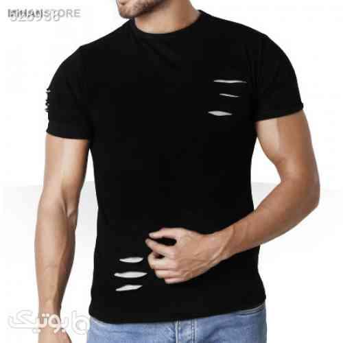 تی شرت مردانه زاپ دار Tear Up  مشکی 99 2020
