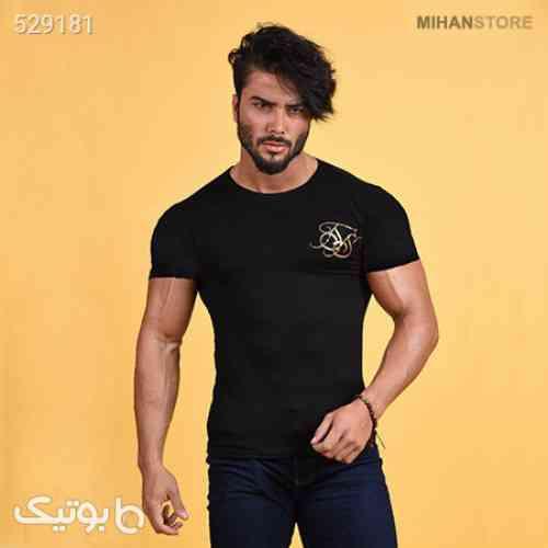 تی شرت مردانه طرح Golden S مشکی 99 2020