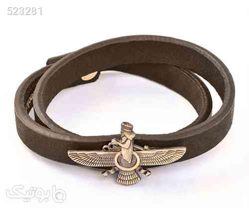 دستبند اسپرت طرح چرم فروهر - دستبند و پابند