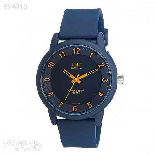 ساعت مچی عقربه ای کیو اند کیو مدل vr52j002y  به همراه دستمال مخصوص برند کلین واچ سورمه ای 99 2020