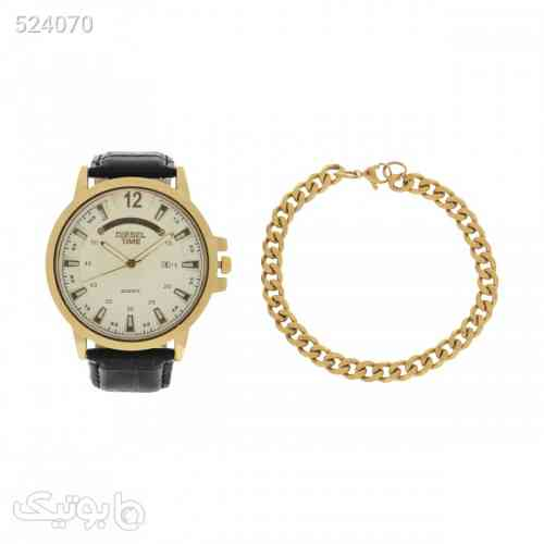 ست ساعت و دستبند کارتیر مردانه 2007 مشکی 99 2020