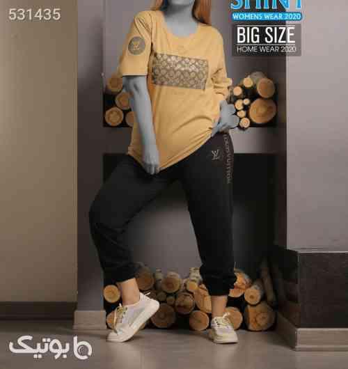 ست تیشرت شلوار سایز بزرگ جدید مشکی 99 2020