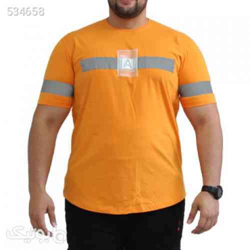 تیشرت سایز بزرگ کد محصولlong2212 نارنجی 99 2020