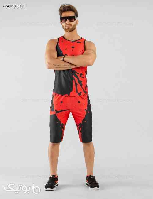 ست رکابی و شلوارک مردانه Nike مدل 14367 قرمز 99 2020