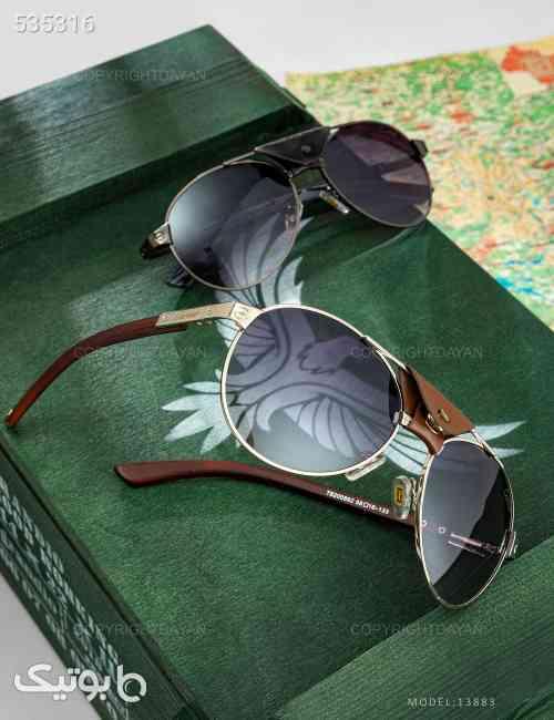 عینک آفتابی مردانه Cartier  مدل 13883 قهوه ای 99 2020
