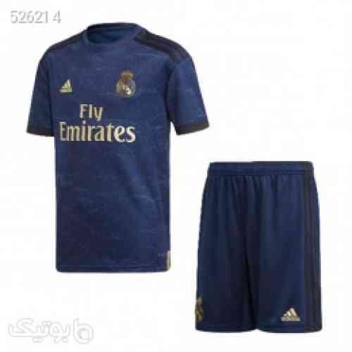پیراهن شورت بچگانه دوم رئال مادرید Real Madrid 2019-20 Away Soccer Jersey Kids Shirt+Short - لباس کودک پسرانه