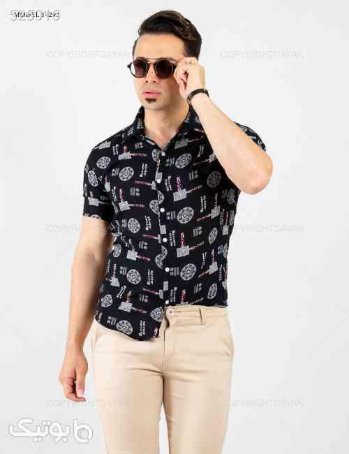 پیراهن مردانه Denver  مدل 14292 مشکی 99 2020