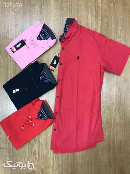 پیراهن کتان آستین کوتاه پارچه خارجی قرمز 99 2020