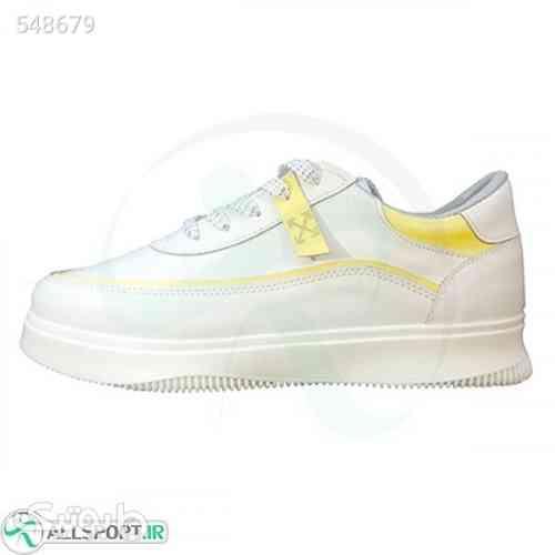 کتانی زنانه مدل ونس طرح اصلی سفید زرد Vans سفید 99 2020