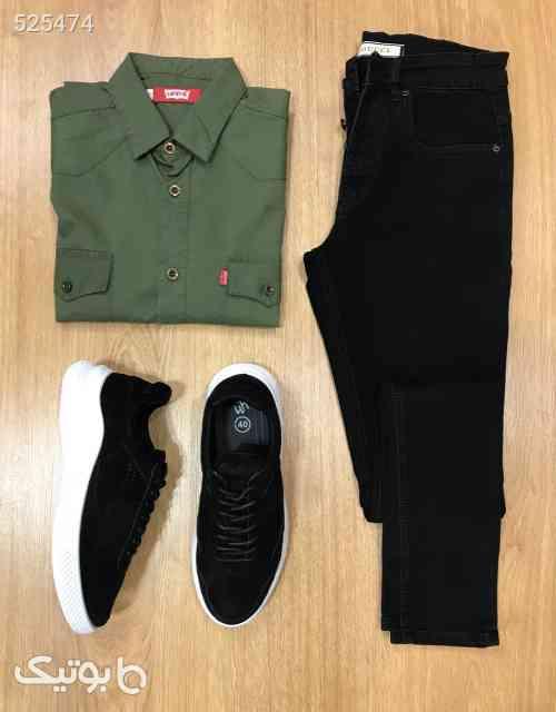 ست شلوار لی و پیراهن و کتونی مردانه  سبز 99 2020