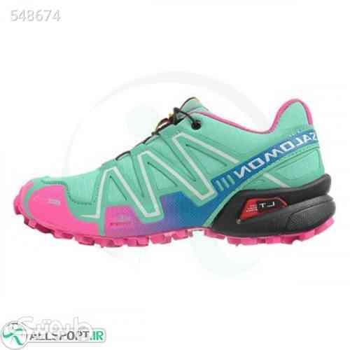 کتانی رانینگ زنانه سالامون Salomon Speedcross 3 Trail  Green Pink Black سبز 99 2020