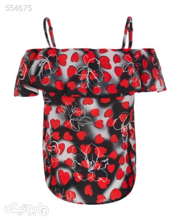 تاپ کوتاه زنانه آیلار Aylar قرمز تاپ زنانه