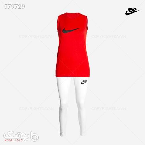 ست تاپ و شلوار زنانه Nike مدل 10221 قرمز تاپ زنانه
