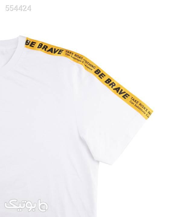 تیشرت آستین کوتاه مردانه جین وست Jeanswest سفید تی شرت و پولو شرت مردانه