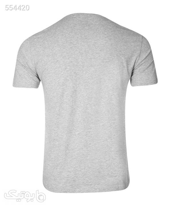 تیشرت چاپی مردانه جین وست Jeanswest طوسی تی شرت و پولو شرت مردانه