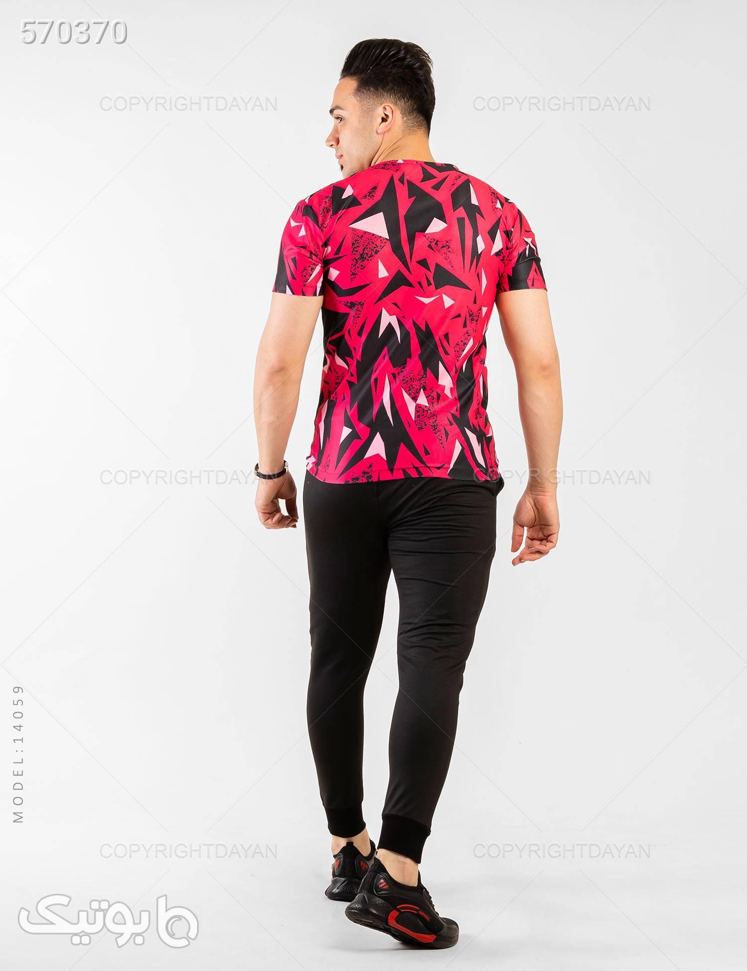 ست تیشرت و شلوار مردانه Nike مدل 14059 صورتی تی شرت و پولو شرت مردانه