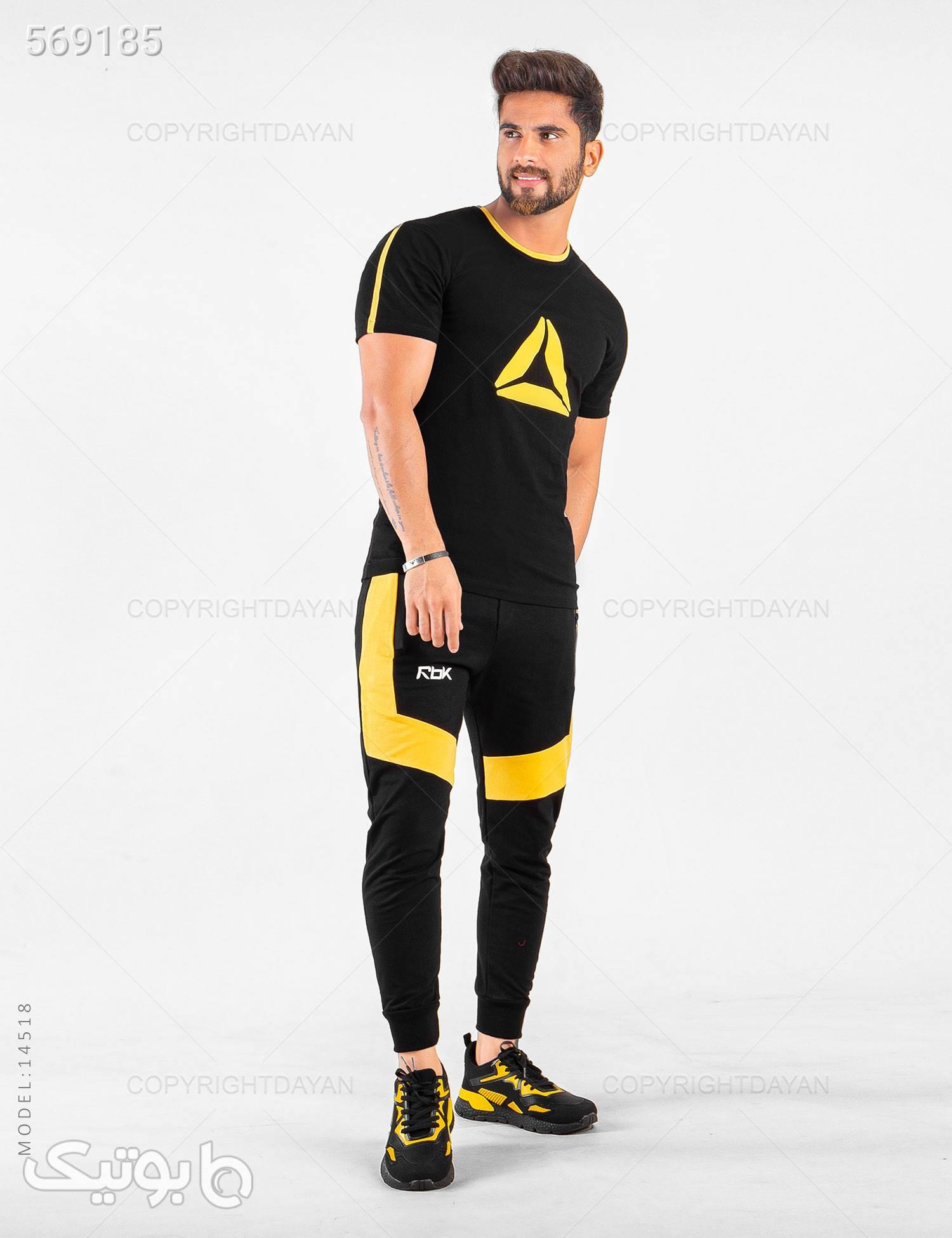 ست تیشرت و شلوار مردانه Reebok مدل 14518 مشکی تی شرت و پولو شرت مردانه