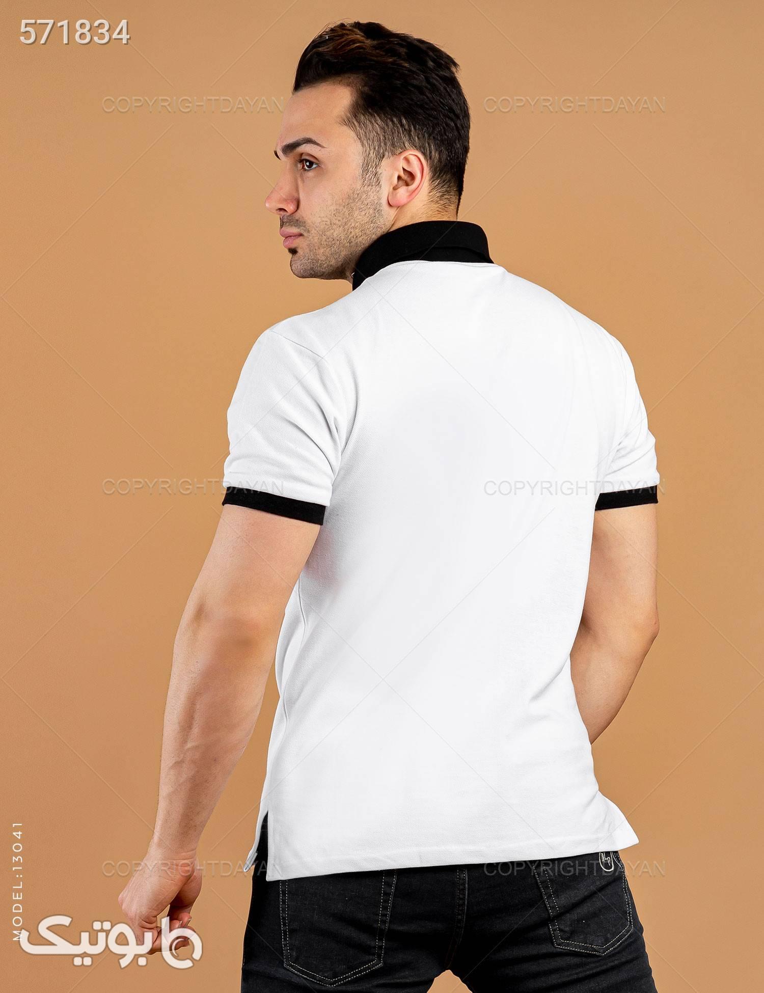 پولوشرت مردانه Marlon مدل 13041 سفید تی شرت و پولو شرت مردانه