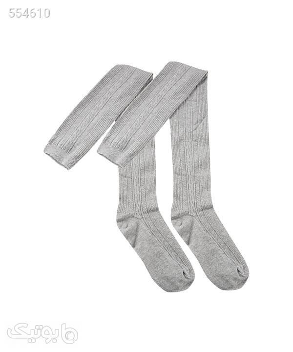 جوراب ساق بلند زنانه جوتیجینز Jootijeans طوسی جوراب و پاپوش