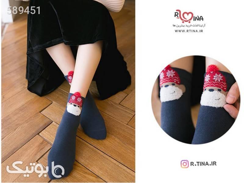 جوراب ساق دار کریسمس a1 طوسی جوراب و پاپوش