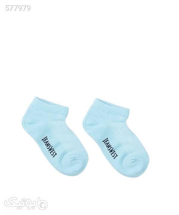 جوراب ساق کوتاه بچگانه جین وست Jeanswest بسته سه عددی فیروزه ای جوراب و پاپوش