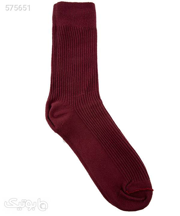 جوراب مردانه ساقدار جوتیجینز Jootijeans زرشکی جوراب و پاپوش
