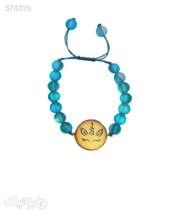 دستبند زنانه سام نورزاده Noorzadeh Gold Art طرح یونیکورن کد 158 آبی دستبند و پابند