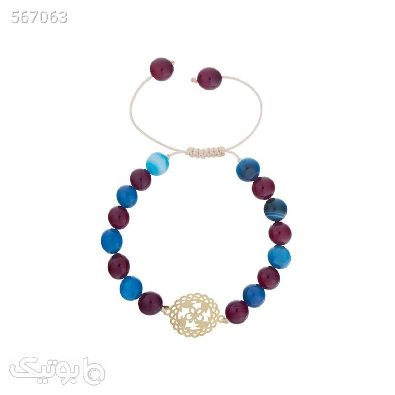 دستبند طلا زنانه مدل MB0631 سورمه ای دستبند و پابند