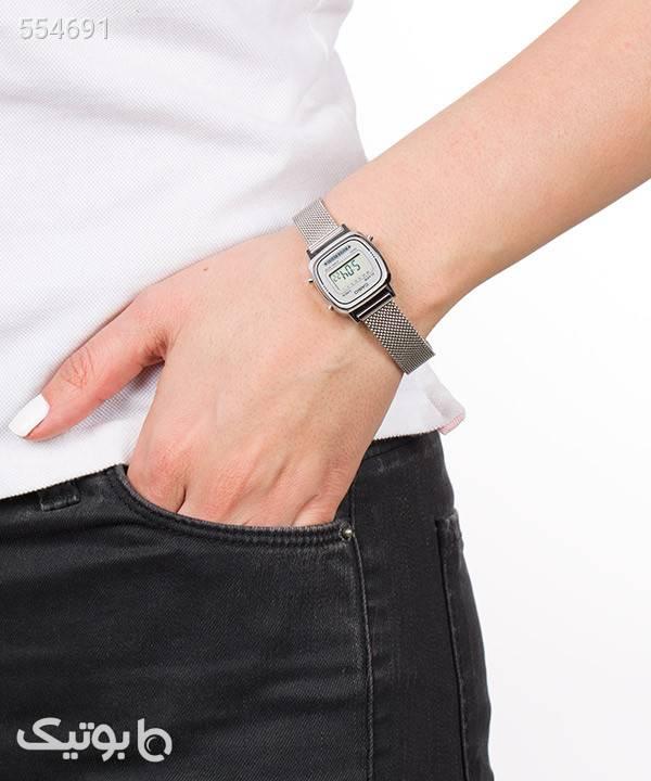ساعت مچی دیجیتال زنانه کاسیو Casio مدل LA670WEM-7D نقره ای ساعت