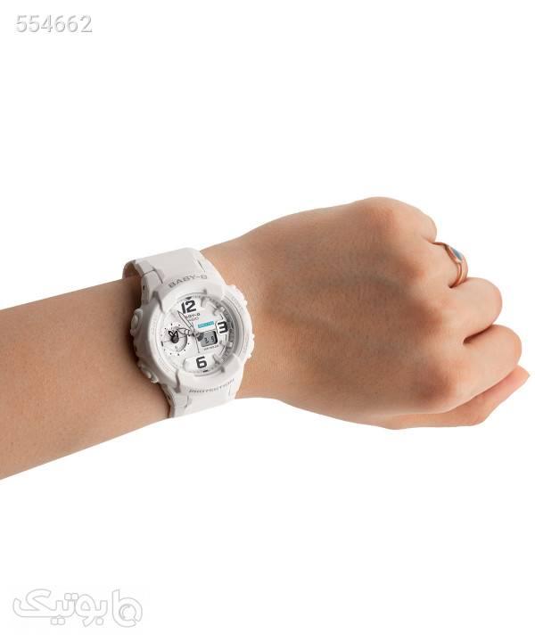 ساعت مچی زنانه کاسیو Casio مدل BGA-230-7BDR سفید ساعت