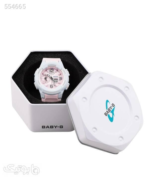 ساعت مچی عقربهای زنانه کاسیو Casio مدل BGA-230PC-2BDR سفید ساعت