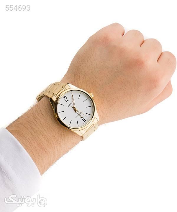 ساعت مچی عقربهای مردانه کاسیو Casio مدل MTP-V005G-7B طلایی ساعت