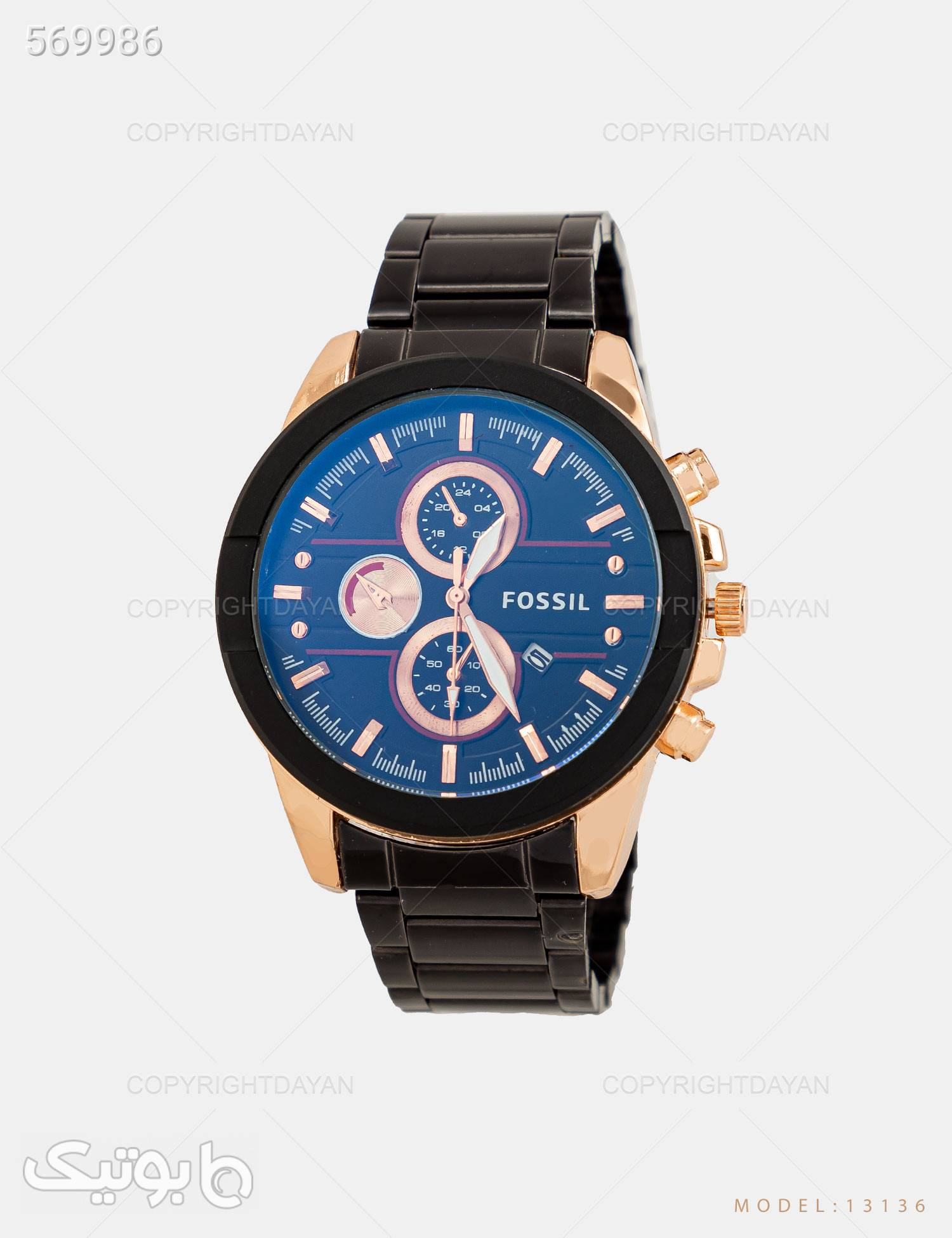 ساعت مچی مردانه Fossil مدل 13136 مشکی ساعت