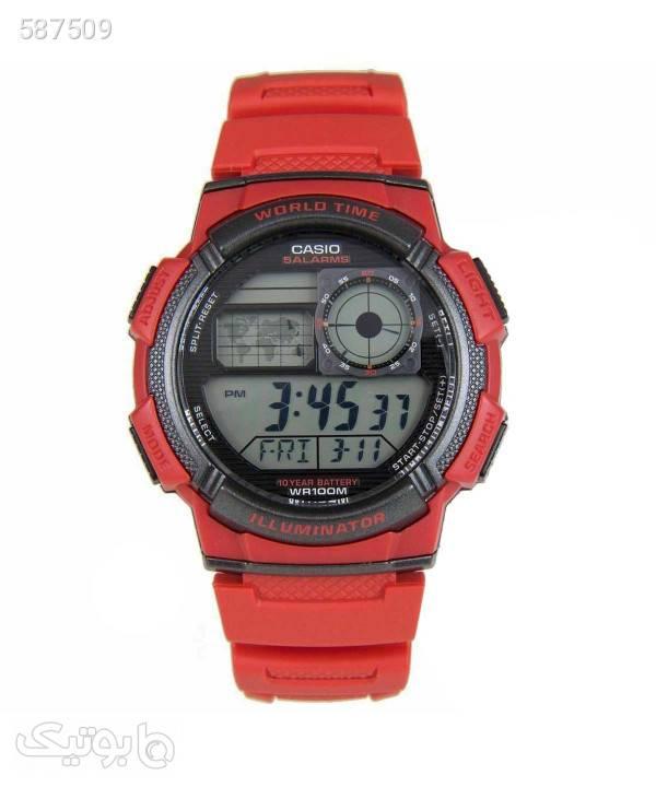 ساعت مچی کاسیو Casio مدل AE1000W4A قرمز ساعت