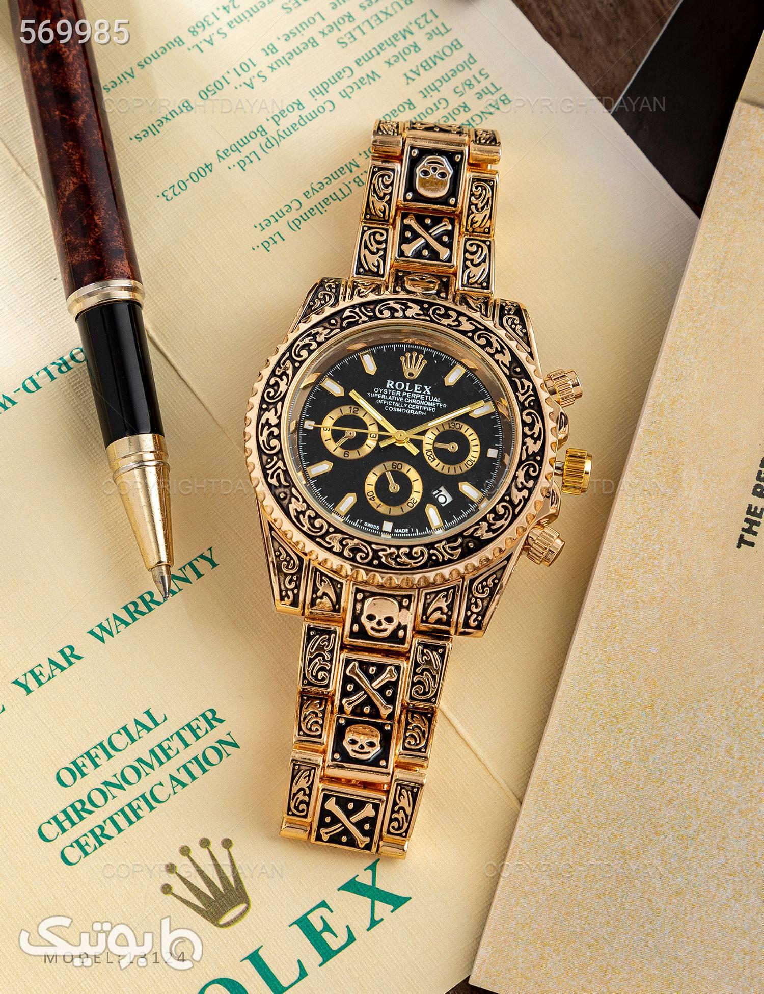 ساعت مچی  Rolex مدل  13124 مشکی ساعت
