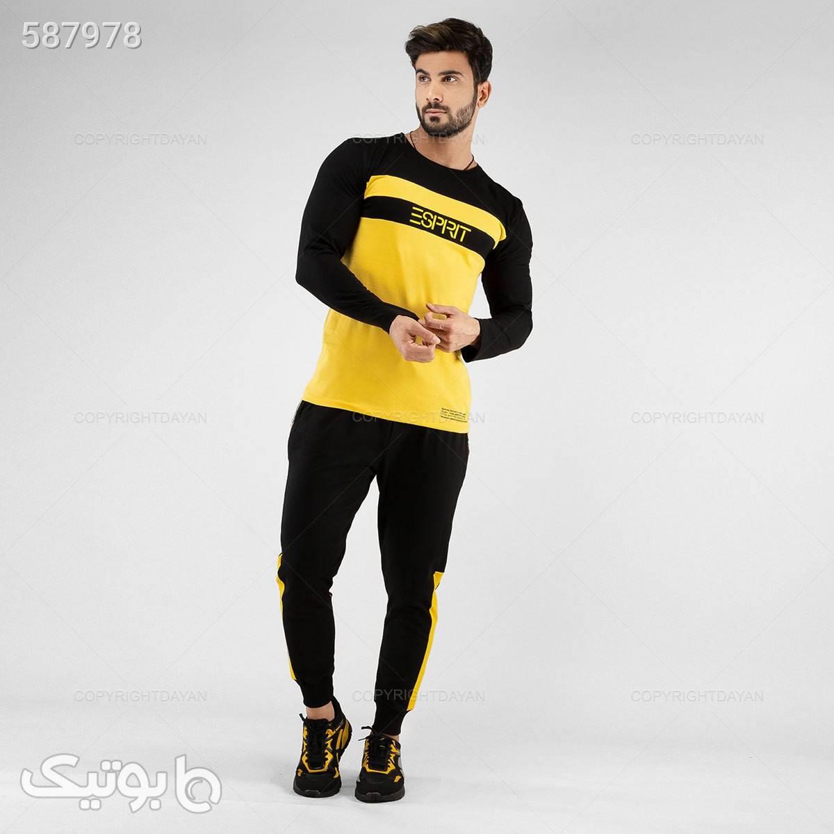 ست بلوز و شلوار پاییزی اسپیریت  زرد ست ورزشی مردانه