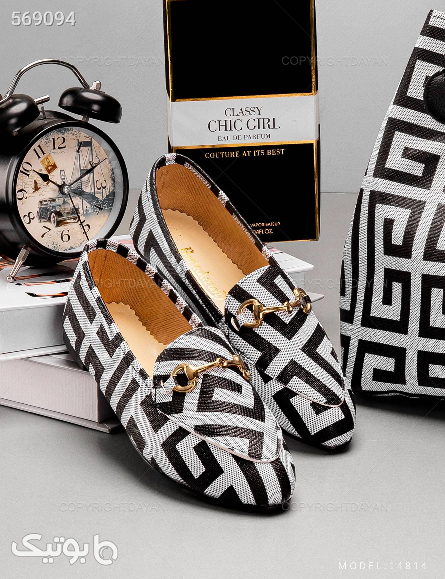 ست کیف و کفش زنانه Versace مدل 14814 مشکی ست کیف و کفش زنانه