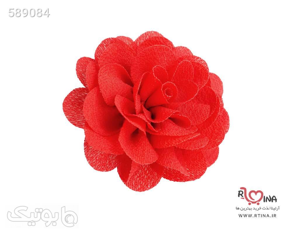 کش و گیره گل حریر قرمز قرمز سنجاق سر و آرایش مو