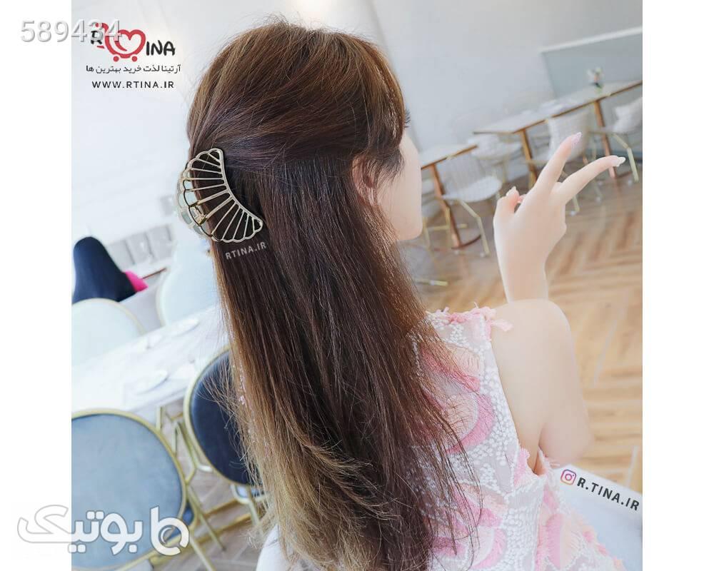 کلیپس مو فلزی مینیمال مدل صدف دریایی طلایی سنجاق سر و آرایش مو