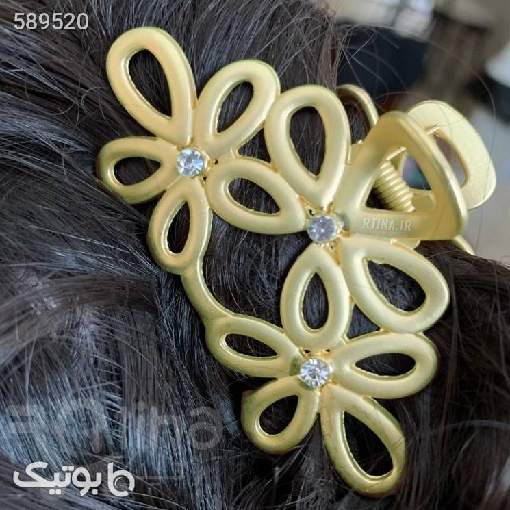 کلیپس مو مینیمال آبکاری طرح سه گل طلایی سنجاق سر و آرایش مو