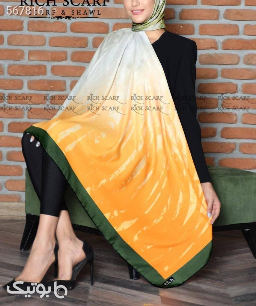 روسری سوپرنخ  نارنجی شال و روسری
