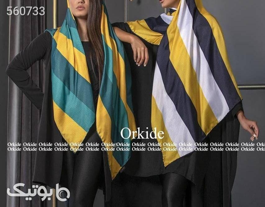 روسری نخ ابریشم گارزا Luxury سبز شال و روسری