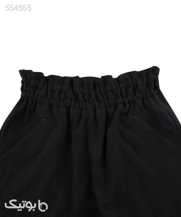 دامن شلواری راسته زنانه سرژه Serge مشکی شلوار پارچه ای و کتانی زنانه