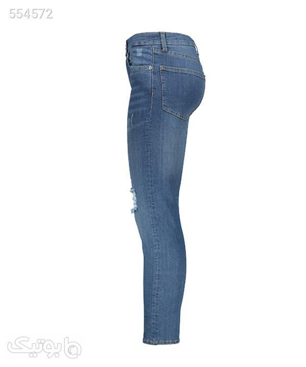 شلوار جین زاپدار زنانه آر ان اس RNS آبی شلوار پارچه ای و کتانی زنانه