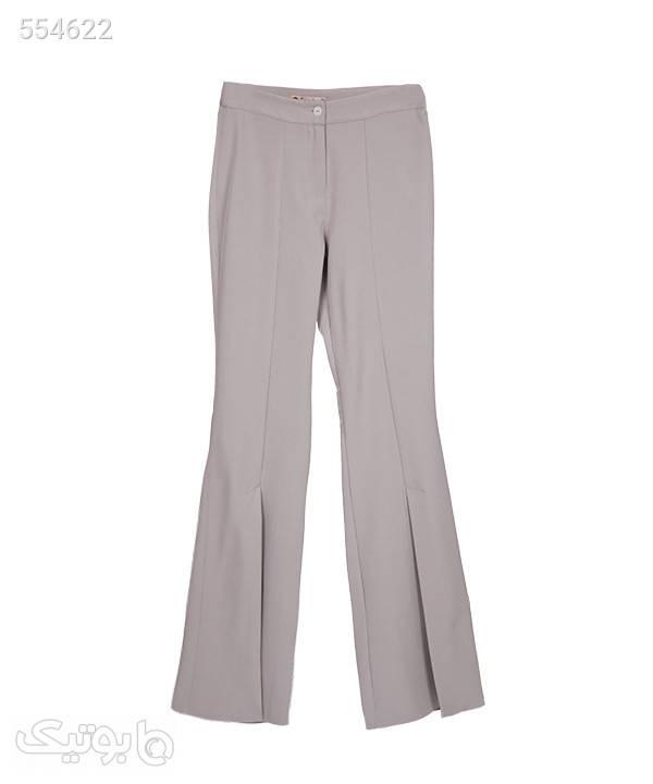 شلوار زنانه چاکدار تولیکا Tulika سفید شلوار پارچه ای و کتانی زنانه