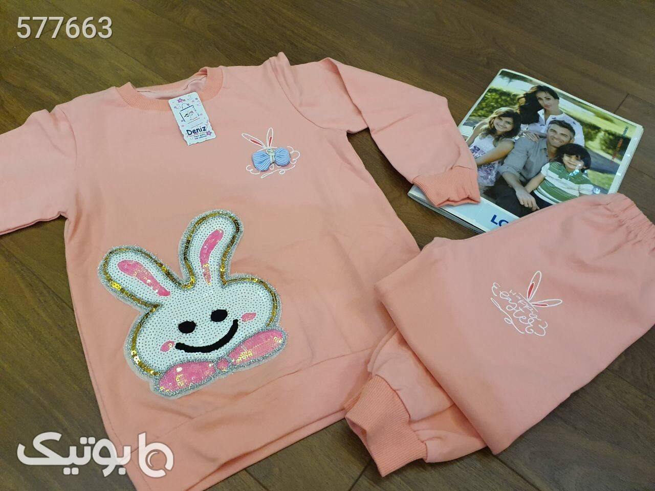 ست خرگوش پولكي کرم لباس کودک دخترانه