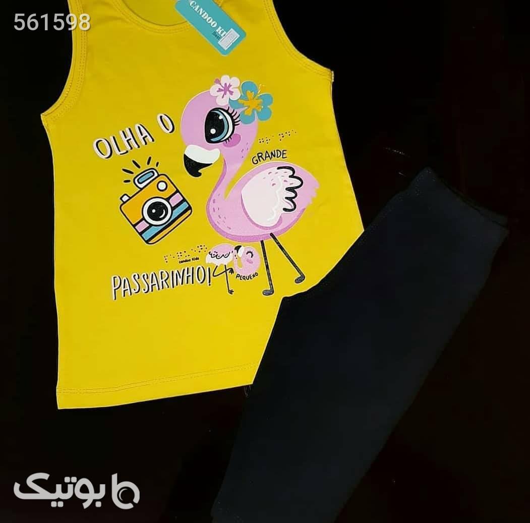 ست دخترانه زرد لباس کودک دخترانه
