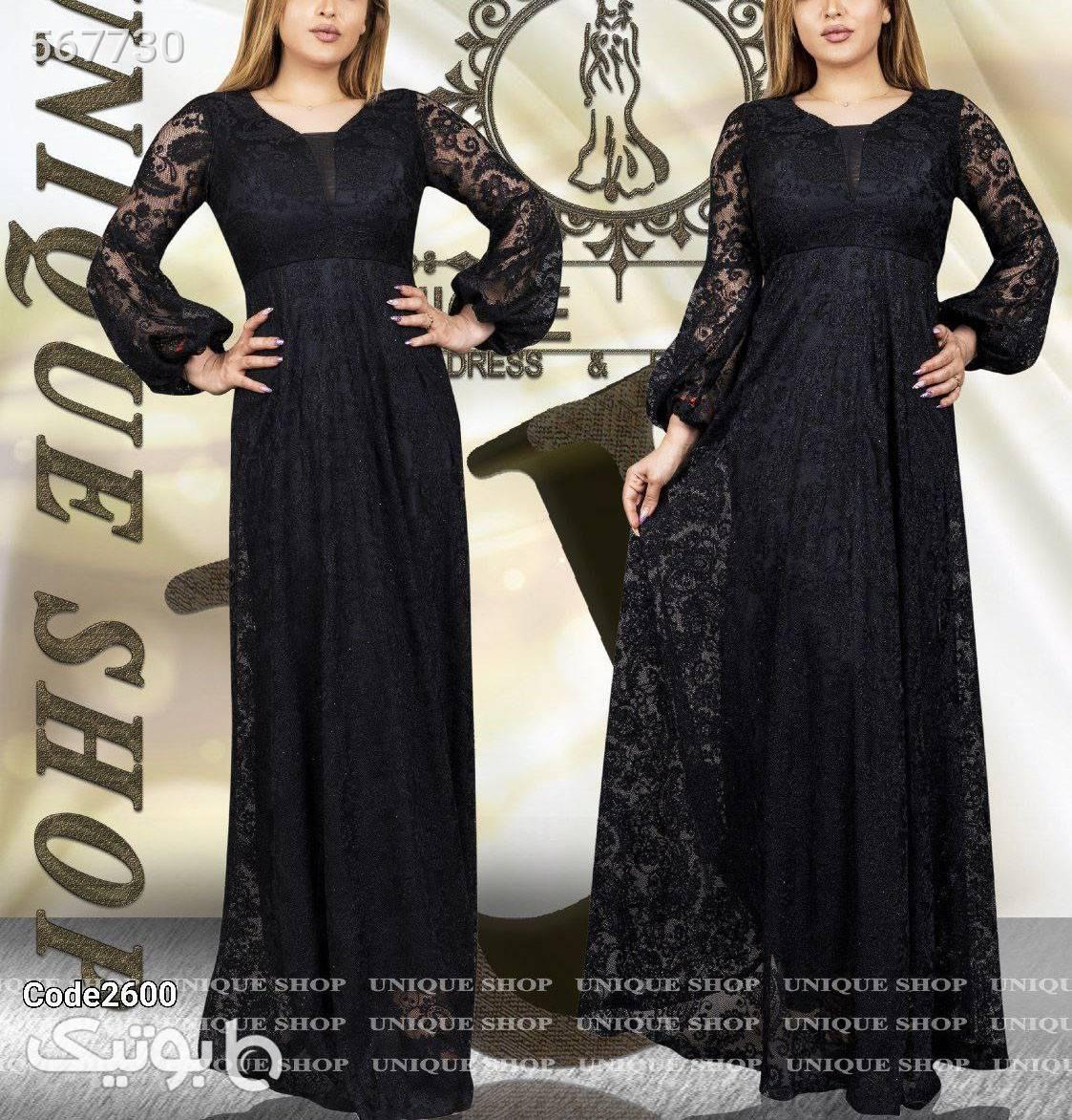 لباس مجلسی مدل آزاده مشکی لباس  مجلسی