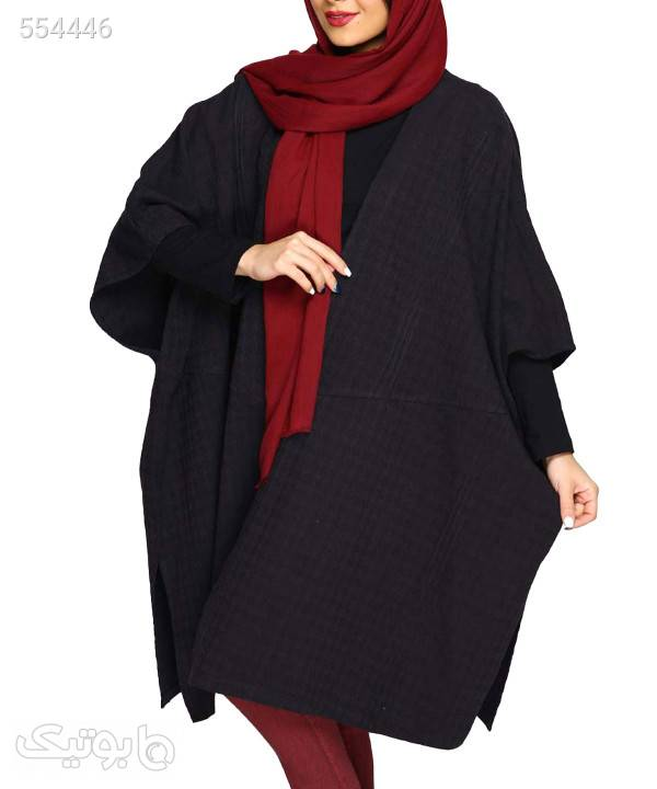 پانچو زنانه تن درست Tane Dorost مدل رامونا مشکی پانچو و شنل